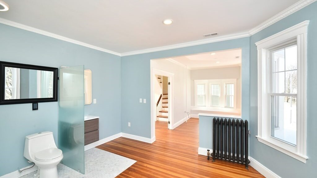 Open-concept design has extended to the bathroom, at least in one Jamaica Plain condo – Buying, Style – Boston.com Real Estate